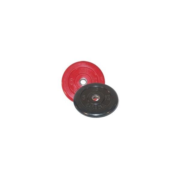 Диск черный обрезиненный диаметр 26 мм или 31 мм BARBELL весом 5 кг