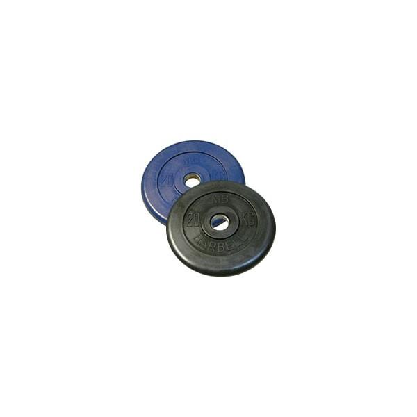 Диск черный обрезиненный диаметр 26 мм или 31 мм BARBELL весом 20 кг