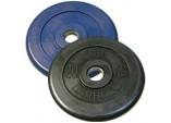 Диск черный обрезиненный диаметр 51 мм весом 20 кг