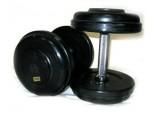 Набор фиксированных обрезиненных гантелей 27,5-45 кг, 5 пар
