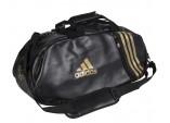 """adidas"" Сумка-рюкзак (кожзам)с золотыми полосками L"