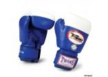 Перчатки боксерские соревновательные,липучка синий
