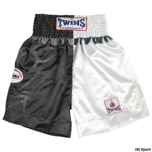 Боксерские шорты черный/белый