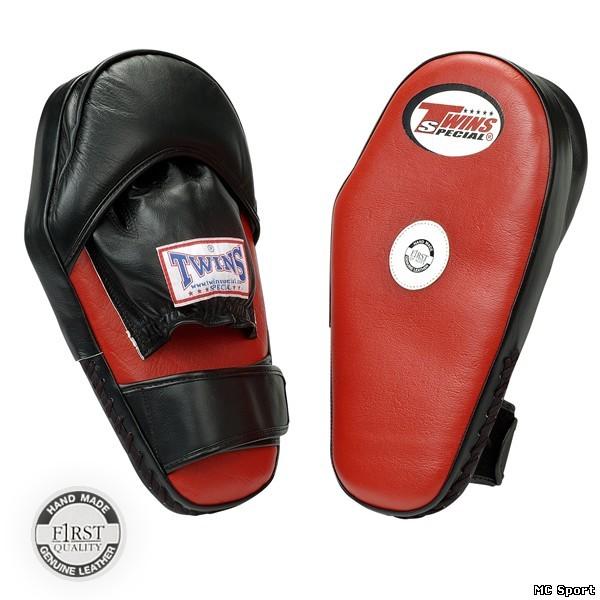 Боксерские лапы большие с липучкой черный/красный