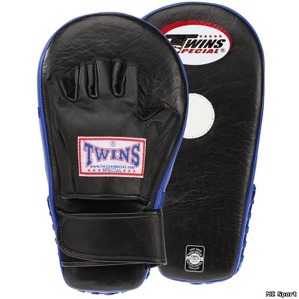 Боксерские лапы большие черный/синий