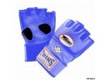 Перчатки ММА,липучка синий