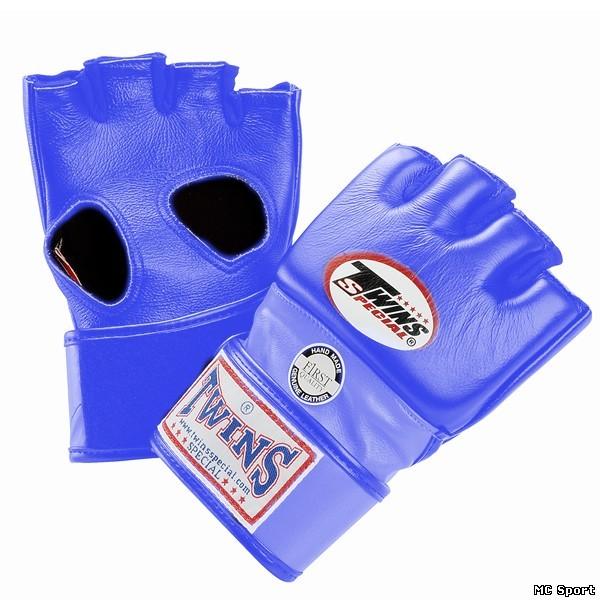 Перчатки ММА,липучка синий Twins GGL-5