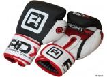 Перчатки боксерские RDX GEL, кожа, черный/белый