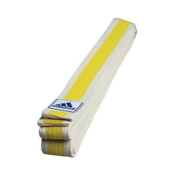 бело желтый пояс тхэквондо фото