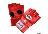 Перчатки ММА,липучка красный