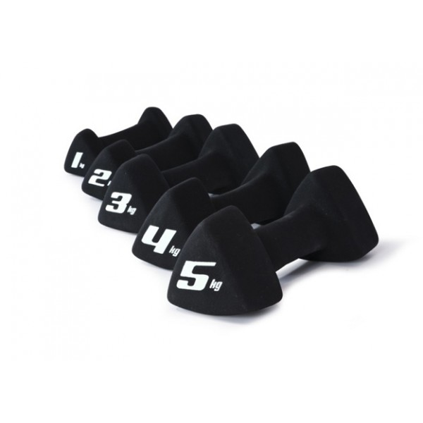 Гантель трехгранная неопреновая Adidas, 5  кг