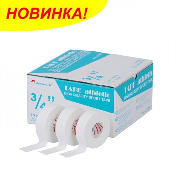 ATHLETIC Tape Pharmacels™, 100% хлопок, ZnO, пористый, (1,9см х 9,1м) 1/16