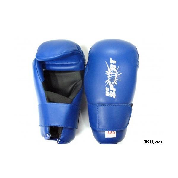 Перчатки открытые тхэквондо ITF (ИТФ) MC Sport кожаные