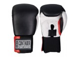 Перчатки боксерские тренировочные, липучка,кожа