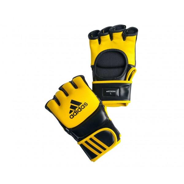 Ultimate Боевые Перчатки для MMA Adidas.желто-черные