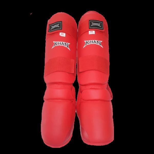 Защита голени и стопы Каратэ WKF Style т.м.  KHAN