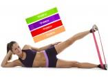 Оранжевая резиновая петля жгут  для тренировок 2,5-15 кг.
