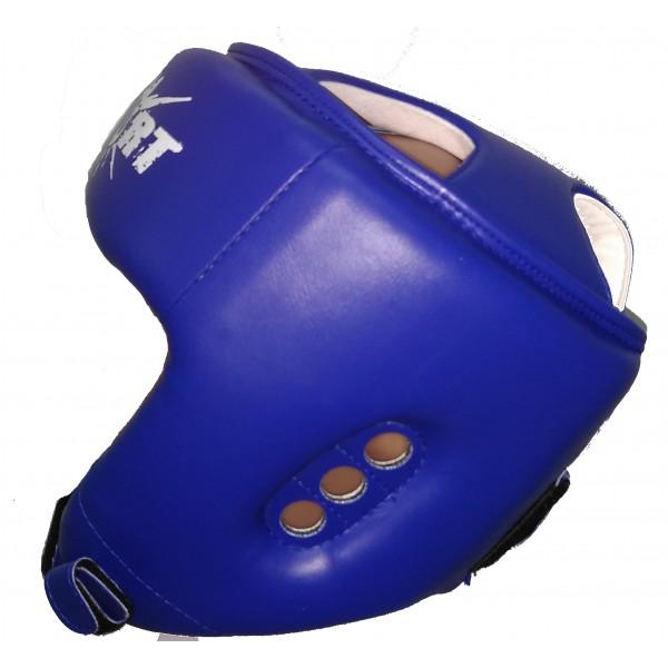 Шлем для тхэквондо ITF GTF (ИТФ) синий MC Sport