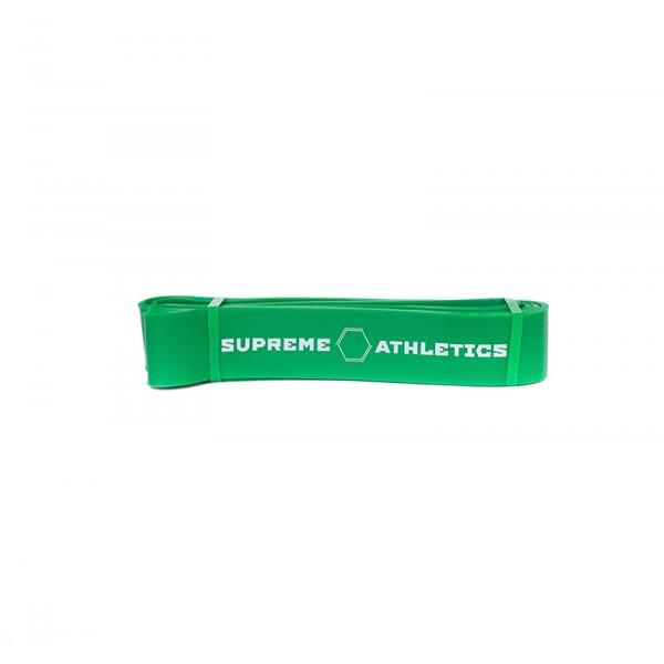 Зеленая резиновая петля для подтягивания Atletics 20-56 кг.