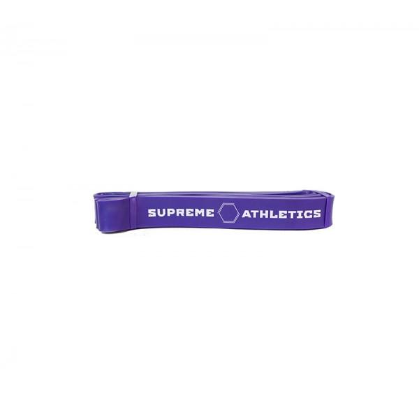 Фиолетовый резиновый эспандер жгут Atletics 15-38 кг.