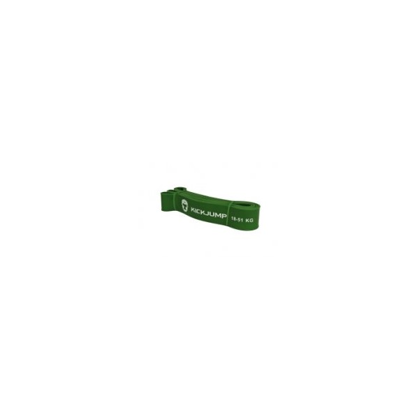 Эспандер петля резиновая Kickjump Зеленая (17-51кг)