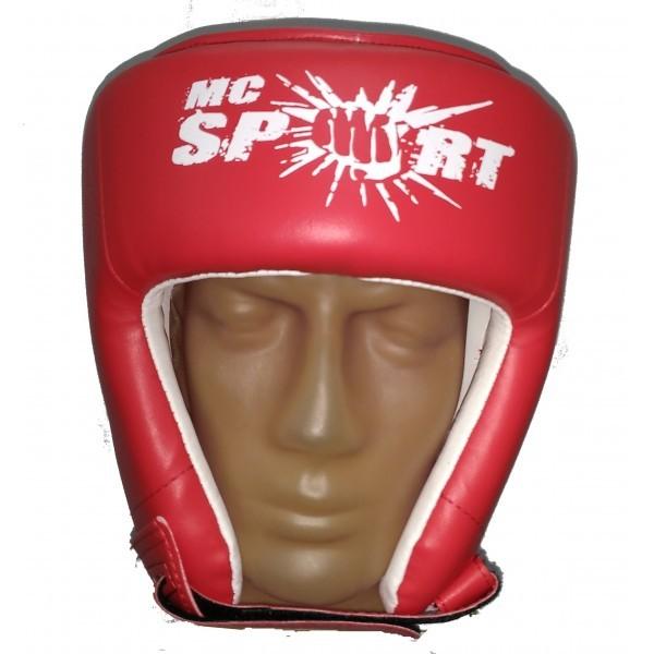 Шлем для боевого самбо синий/красный MC Sport