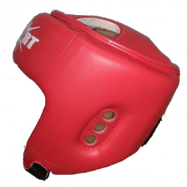 Шлем для тхэквондо ITF (ИТФ) красный MC Sport