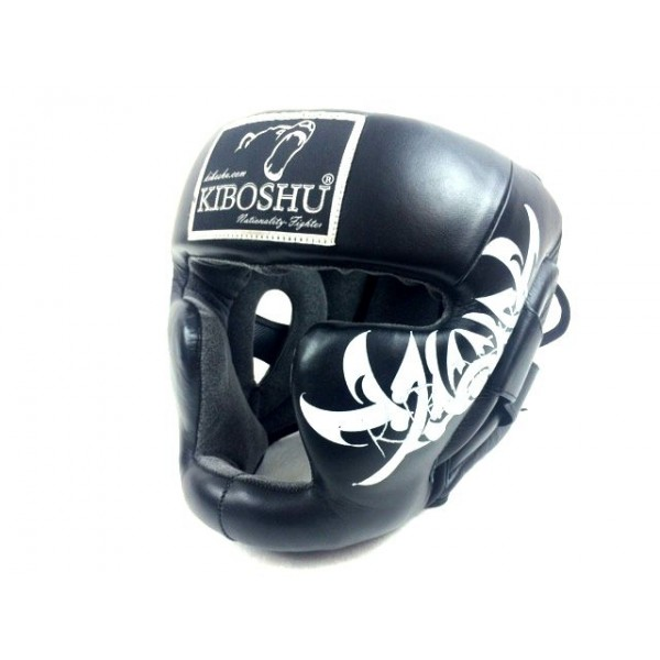 Шлем с защитой подбородка black к/з KIboshu