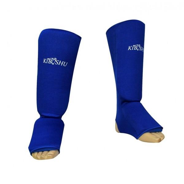 Защита голени эластичная синий