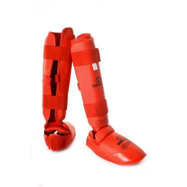 Комплект защиты голени+футы, каратэ WKF, BS-з53, EKF