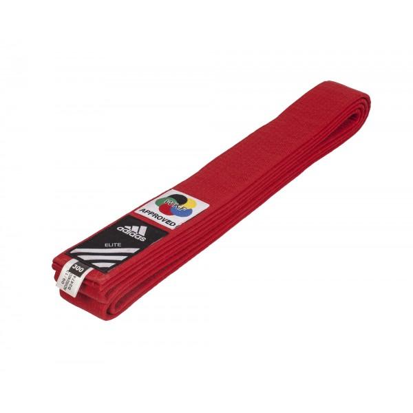 Красный пояс для карате Adidas WKF