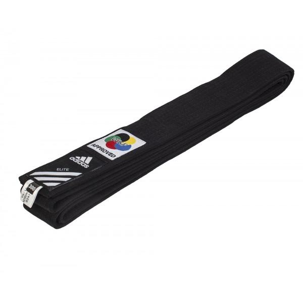 Черный пояс для карате Adidas WKF