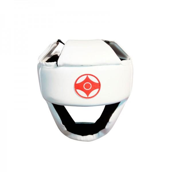 Шлем с закрытым подбородком для карате кеокушинкай (натуральная кожа)