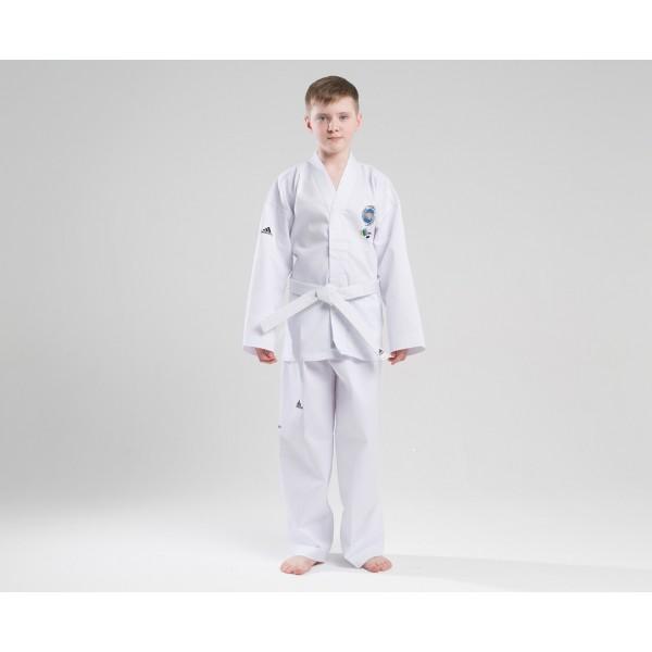 Добок для тхэквондо с поясом ITF Student Dobok белый Adidas