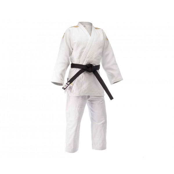 Кимоно для дзюдо Champion 2 IJF белое с золотыми полосками J-IJF Adidas