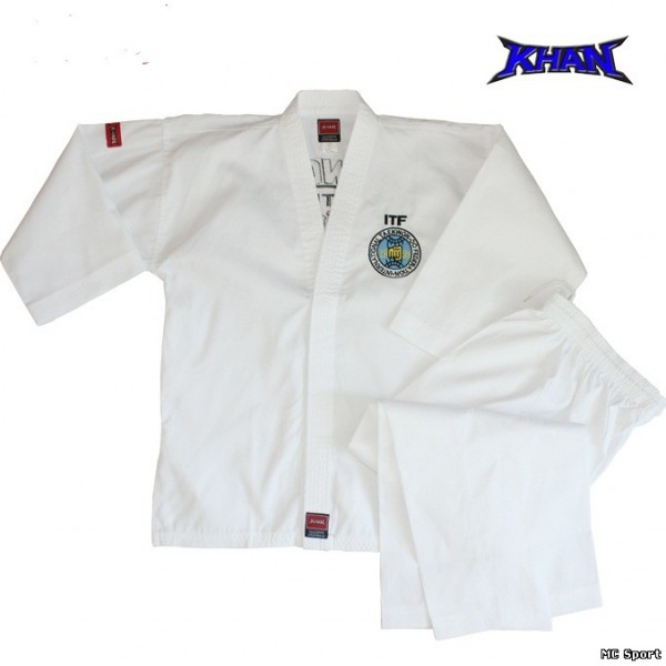 Униформа для тхэквондо добок детский  ITF WB Khan White Belt (120-160)