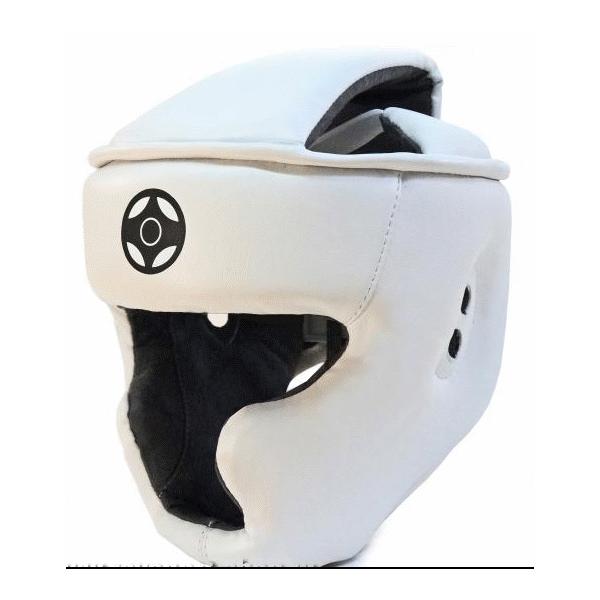 Шлем для карате кеокушинкай с зашитой щек и подбородка
