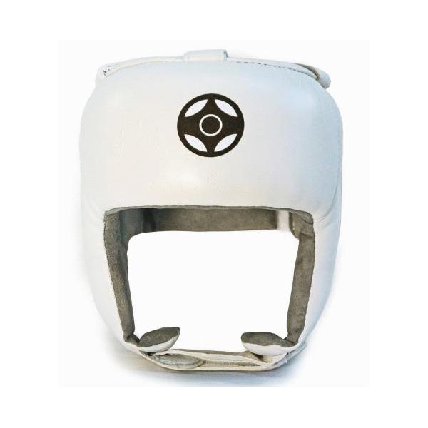 Шлем для карате кеокушинкай с зашитой верха