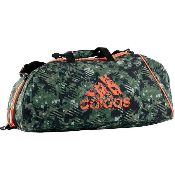 Сумка спортивная Combat Camo Bag M камуфляжно-оранжевая adiACC053-M