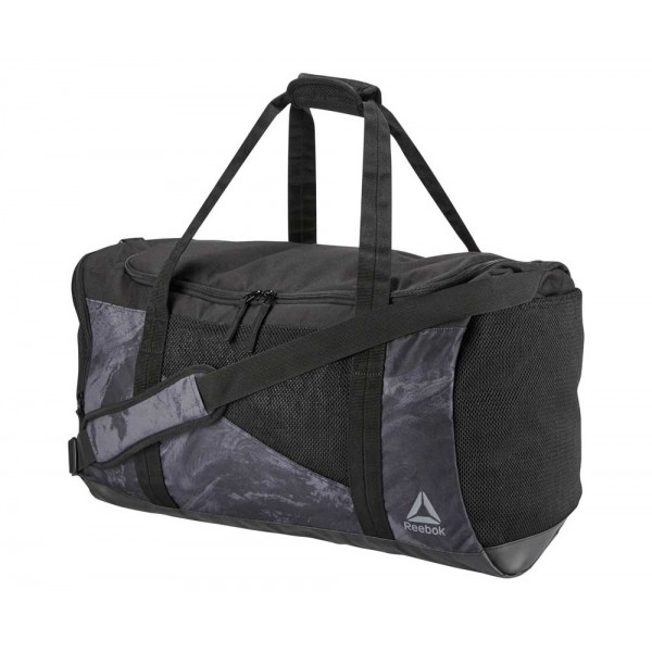 Сумка спортивная Combat Duffle Grip Bag M черно-серая CE4145