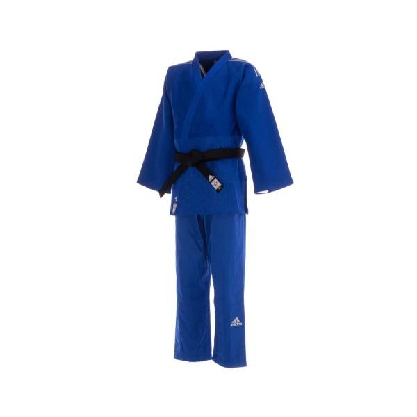 Кимоно для дзюдо Champion 2 IJF Premium синее с серебристыми полосками J-IJFB