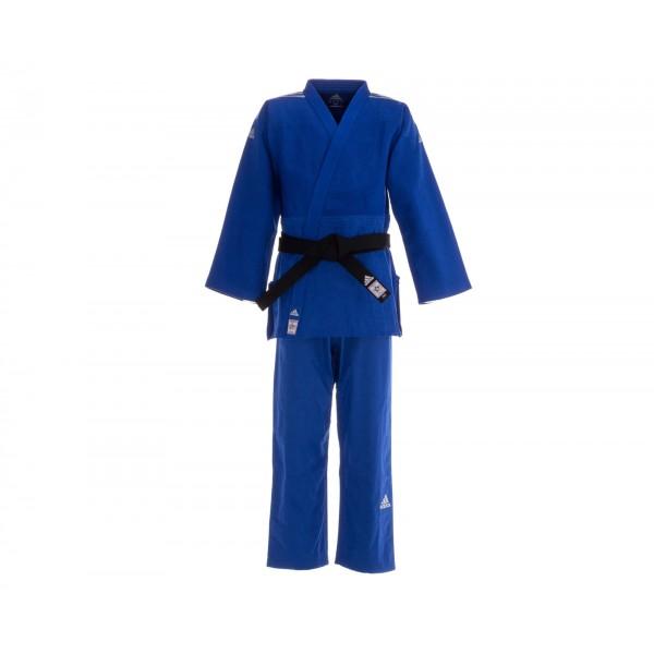 Кимоно для дзюдо Champion 2 IJF Slim Fit Premium синее с серебристыми полосками J-IJFSB