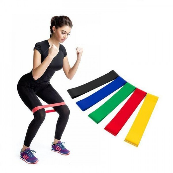 Резинки для фитнеса комплект из 5 шт.