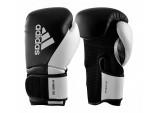 Перчатки боксерские ADIDAS HYBRID 150 ЧЕРНО-БЕЛЫЕ ADIH150TG